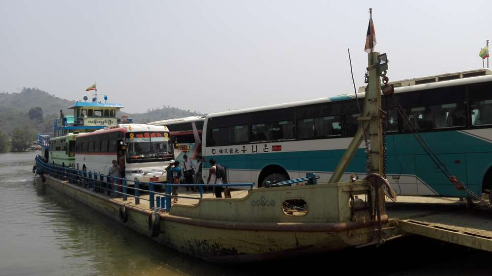 автобусы на пароме