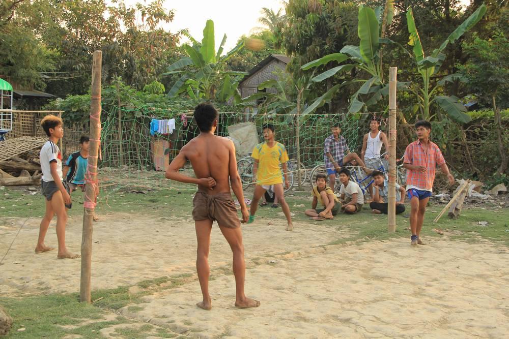 юбка лонжи в Мьянме