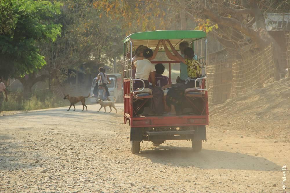 Туристический туктук в Мьянме