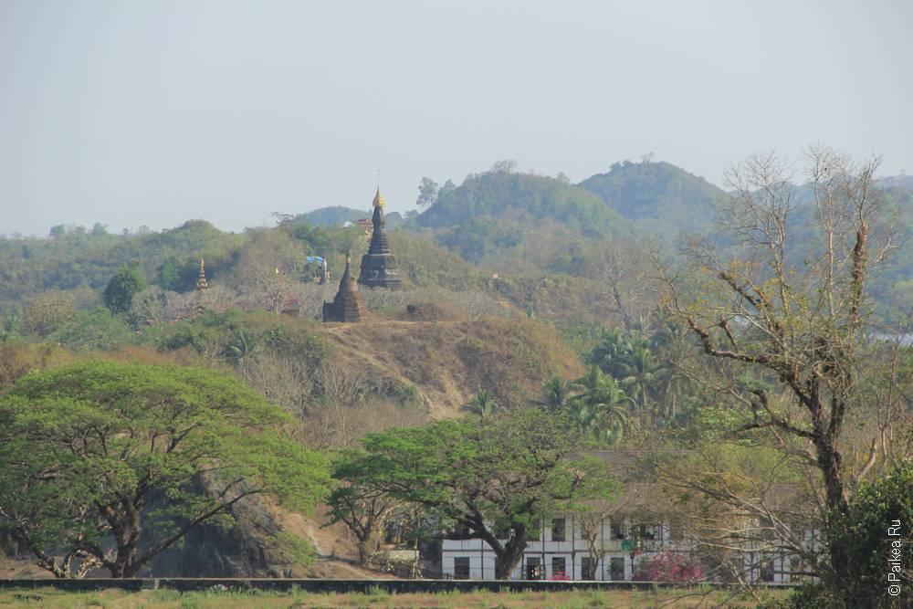 чеди на холме в мьянме