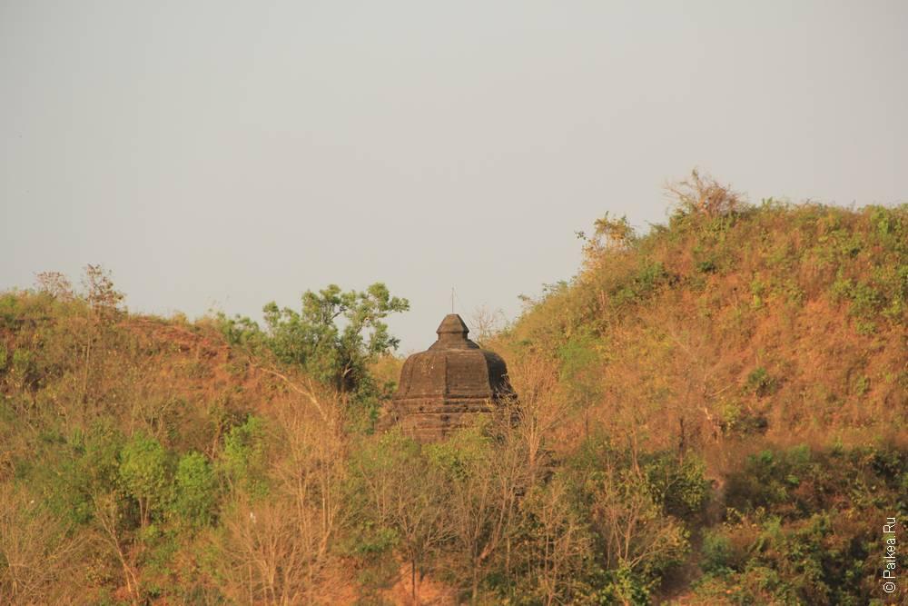 пагода в зарослях мраук-у мьянма