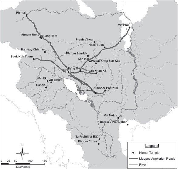 Дальние храмы Ангкора на карте Кхмерской империи