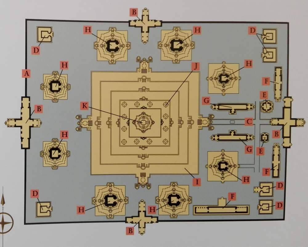 Схема храма Баконг