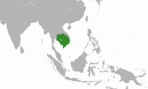 Карта государства Ченла - история Камбоджи