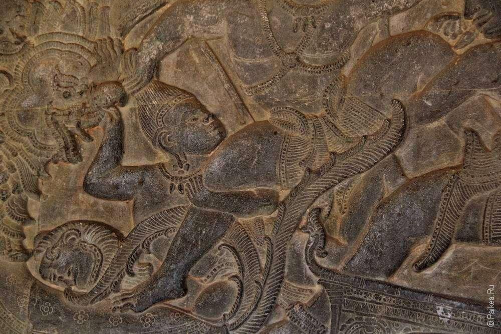 Барельеф Ангкор Ват