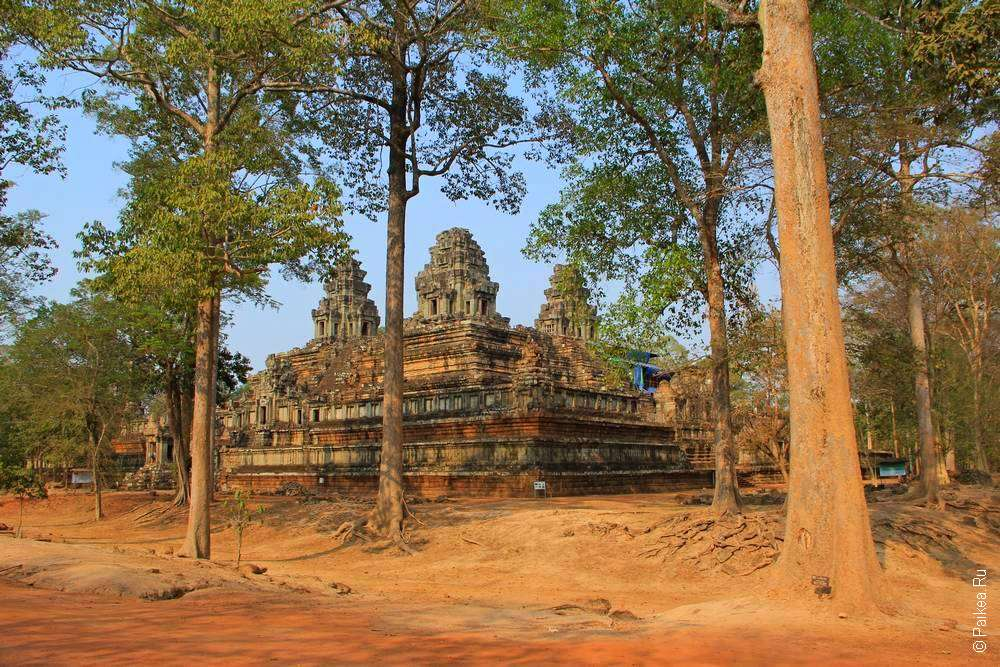 Кхмерский храм за деревьями
