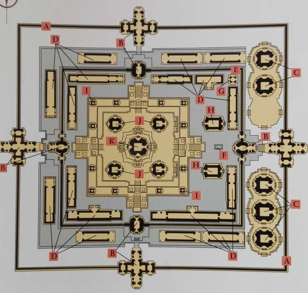 Схема храма Пре Руп в Камбодже