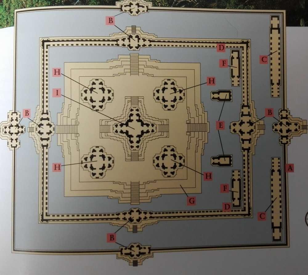 Схема храма Та Кео в Камбодже