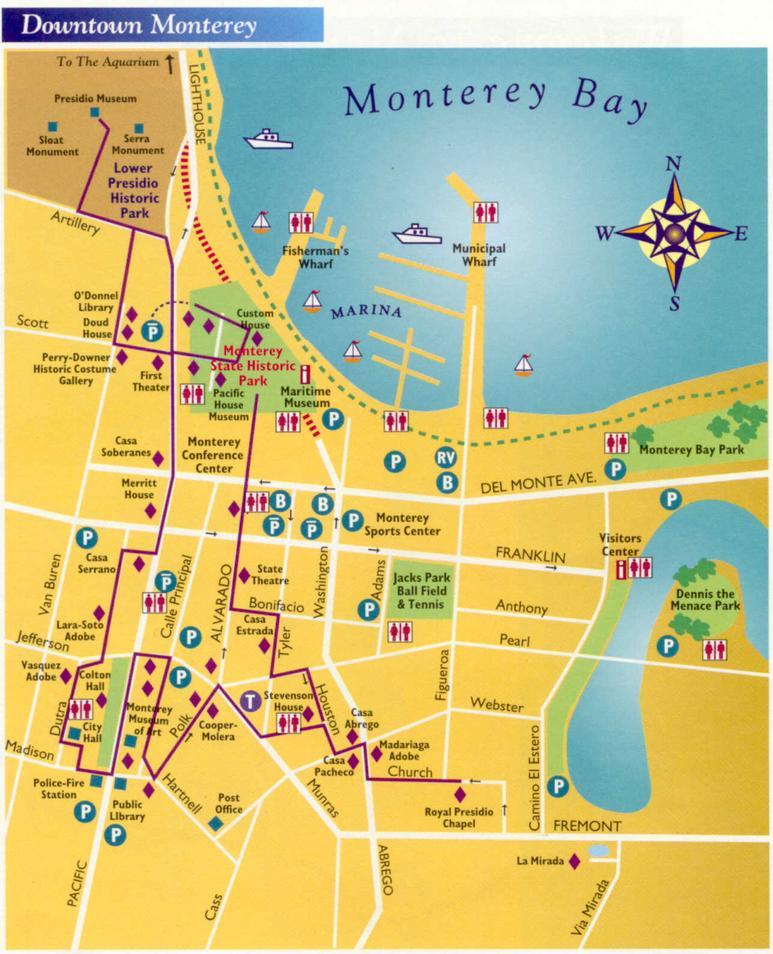 Карта Монтерея и его достопримечаельностей
