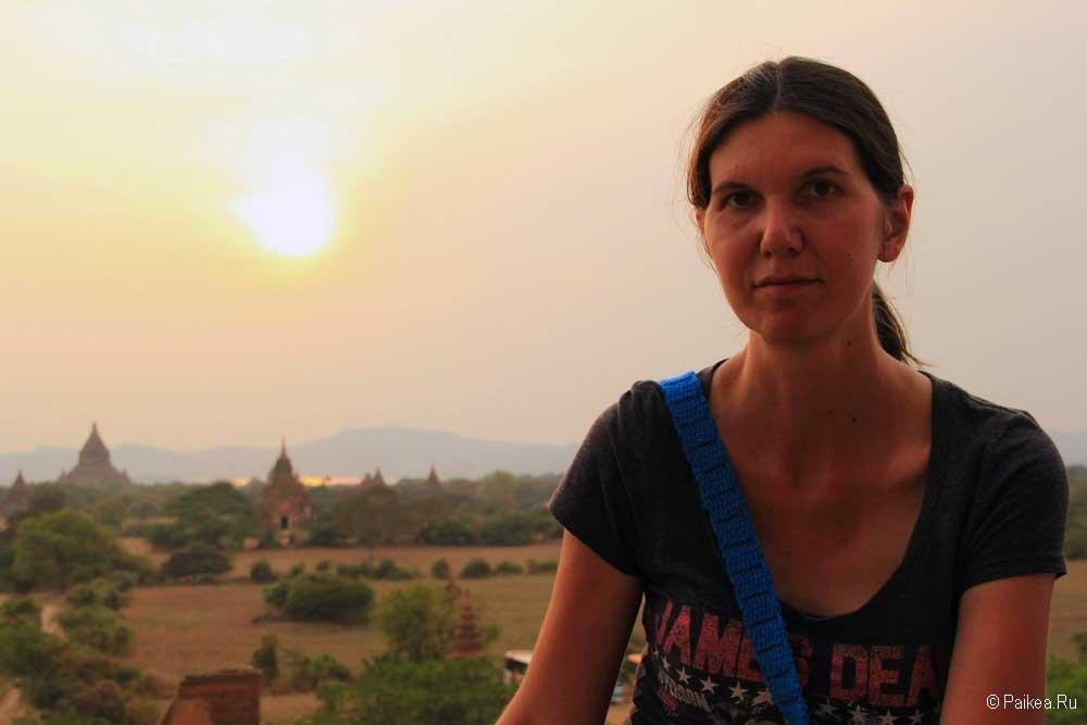 баган мьянма закат