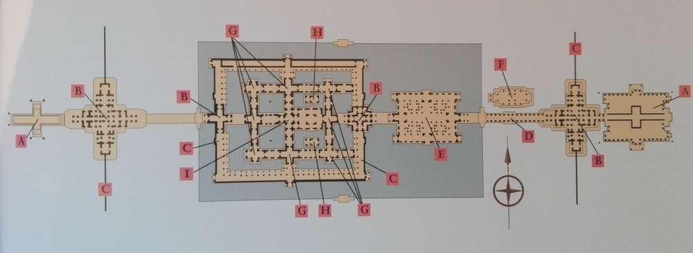 Схема храма Бантей Кдей