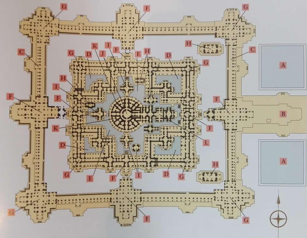 схема храмового комплекса Байон