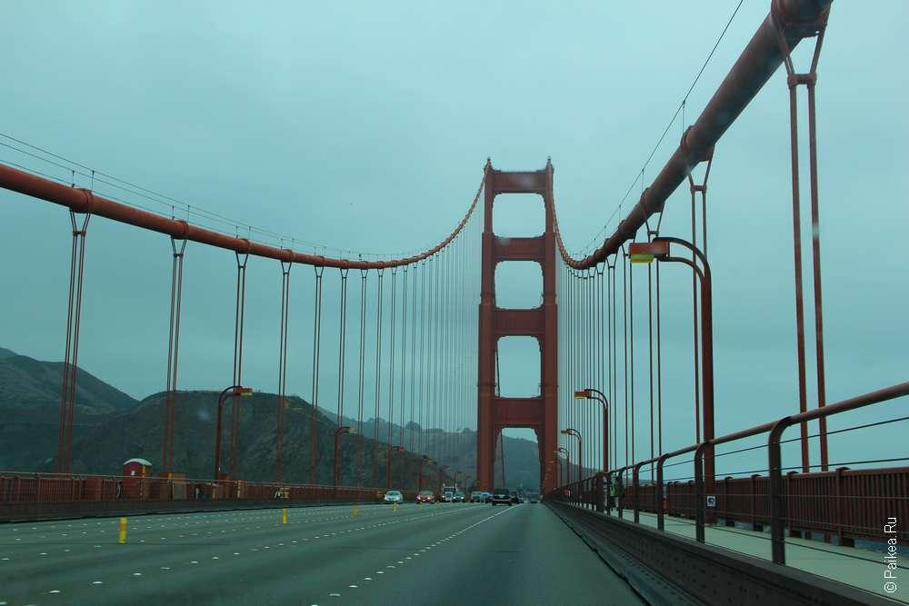 Висячий мост Золотые Ворота держат канаты и троссы