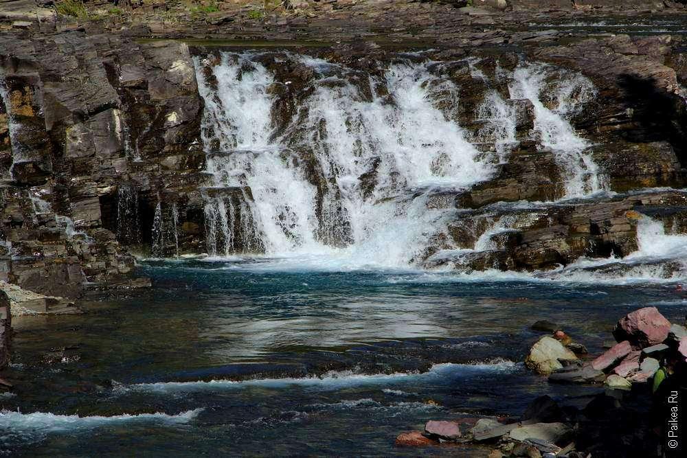 Водопад Макдональд в парке Глейшер