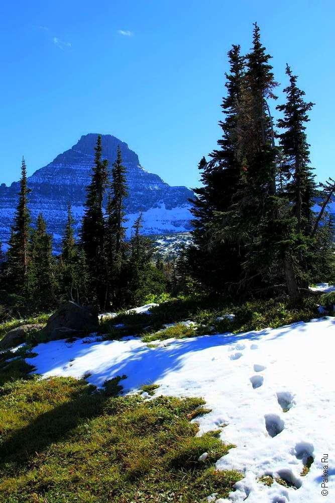 Снег в горах штата Монтана