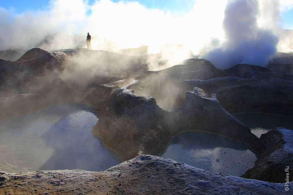 Грязевый вулкан в Боливии