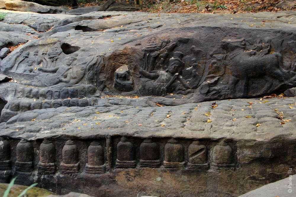 Резьба по камню в Камбодже