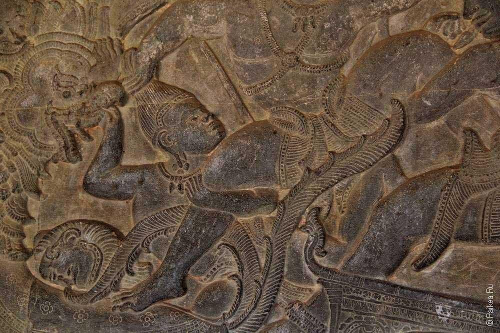 ангкор ват барельеф