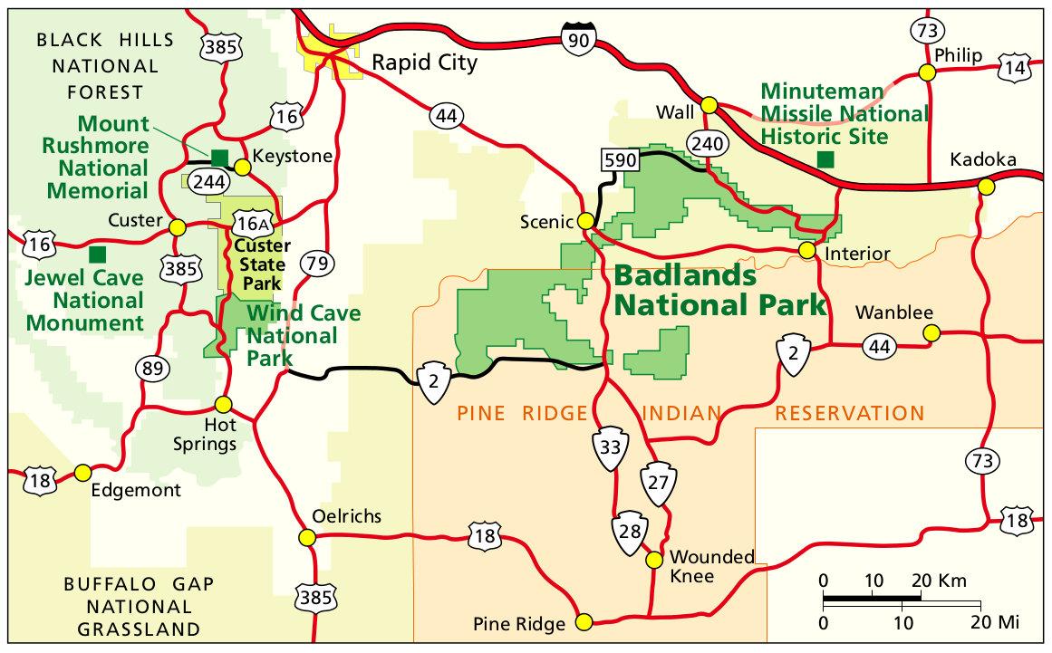 Карта Бэдлендс