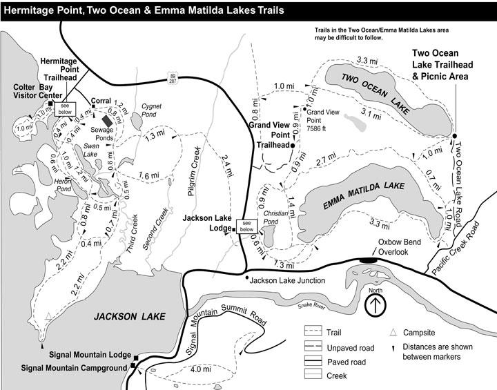 Трейлы у озера Джексон