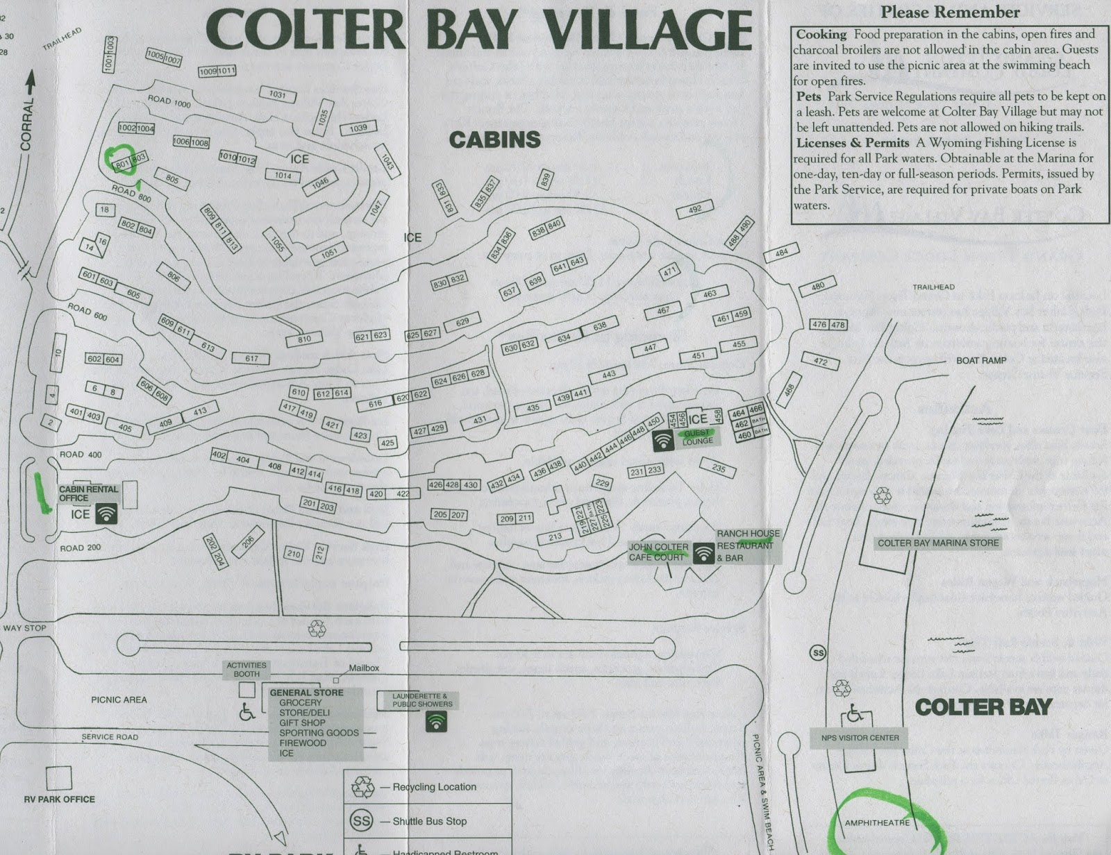 Map of Colter Bay Village