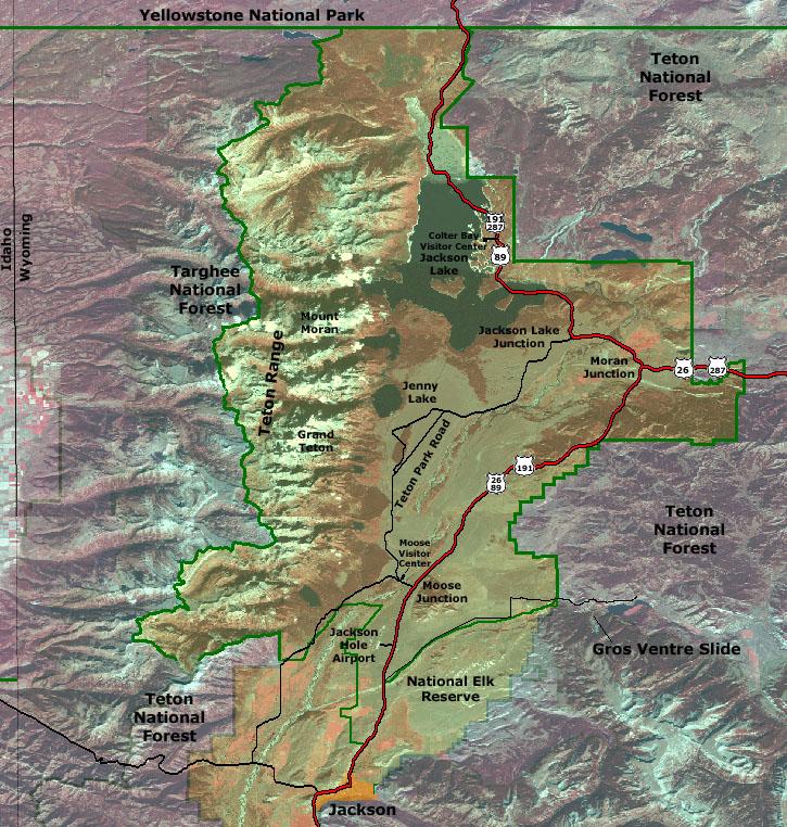 Геологическая карта Гранд Титон