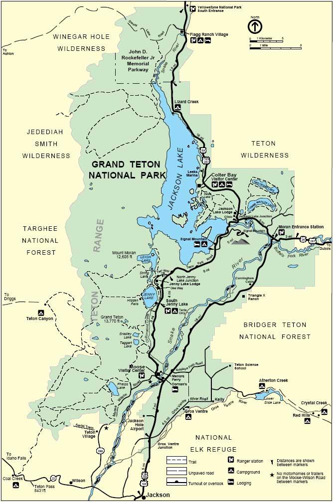 Схема трейлов Гранд Титон