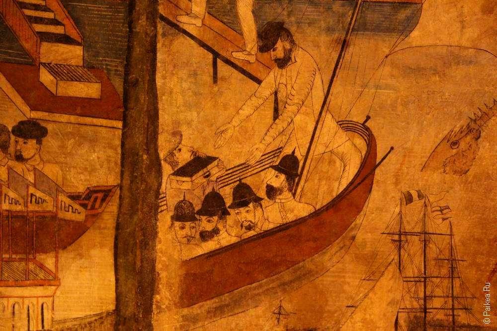 Росписи на стенах Ват Пумин