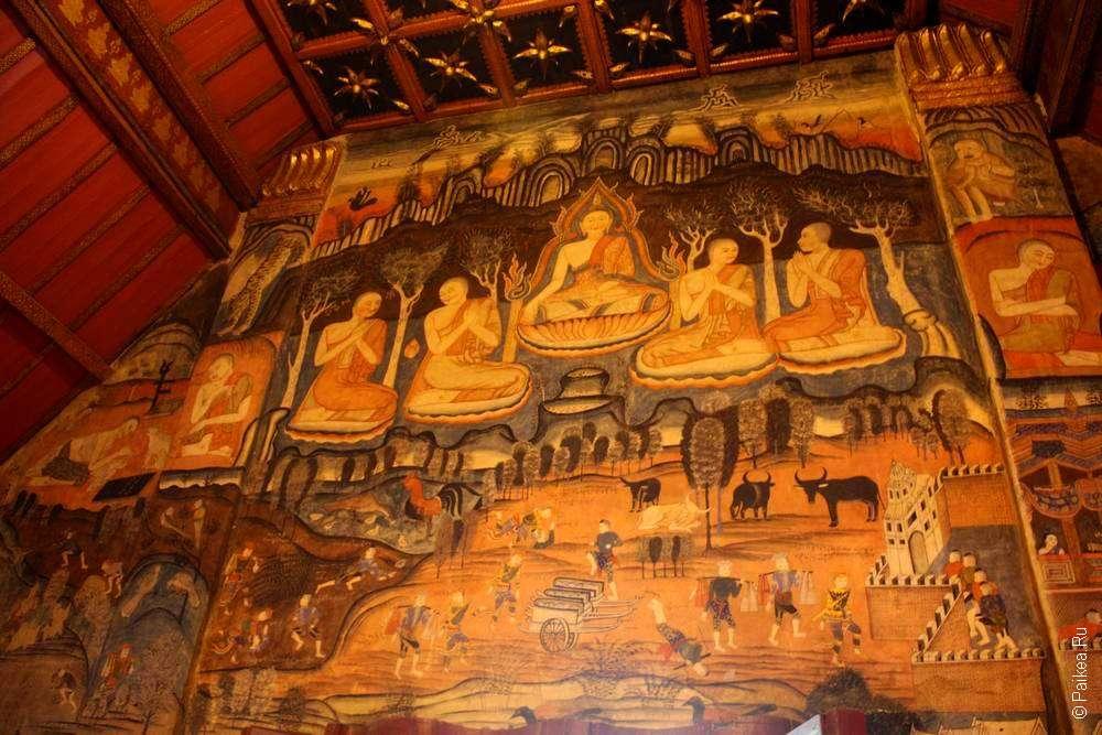 фрески в буддистском храме