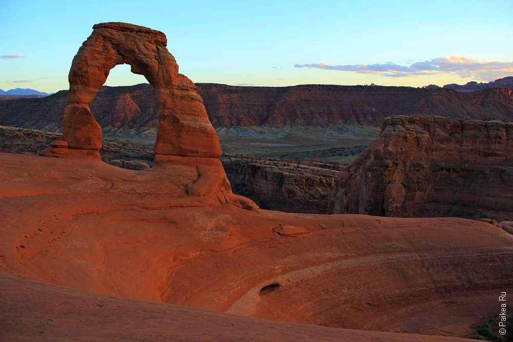 Деликатная арка в штате Юта США
