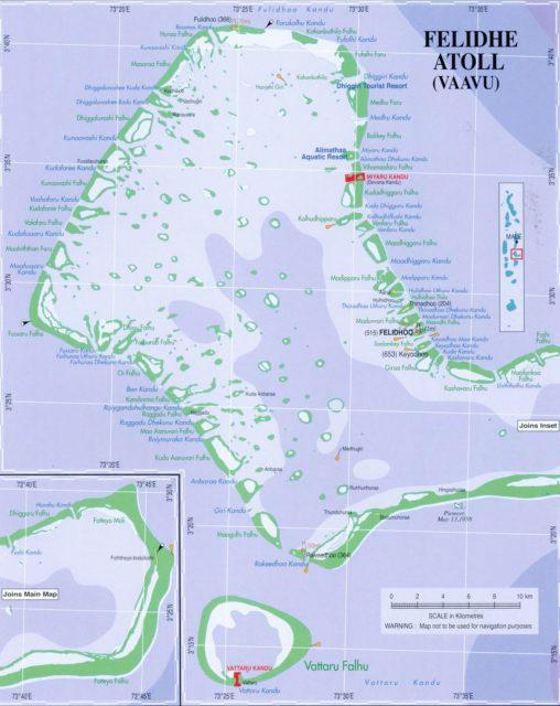 Карта атолла Вааву