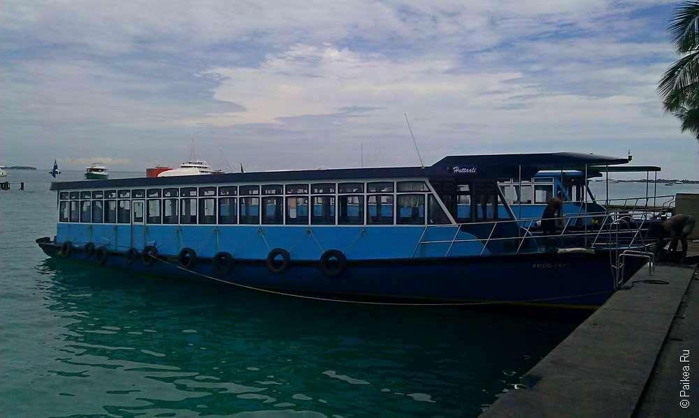 Отдых на Мальдивах начинается с лодки в аэропорту