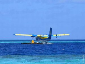 Гидроплан на Мальдивах