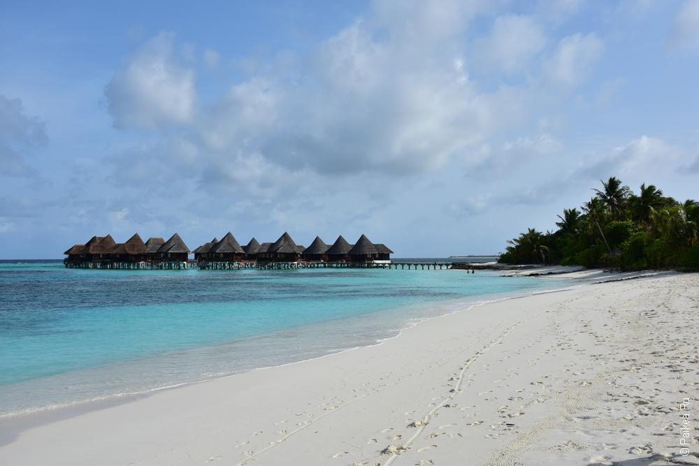 водное бунгало на Мальдивах