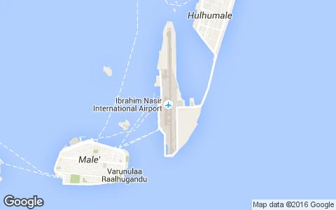 Аэропорт Мальдив на карте