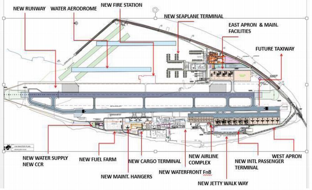 Схема аэропорта Велана на Мальдивах