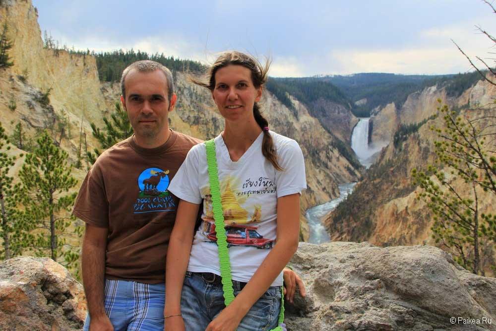 йеллоустоун водопад