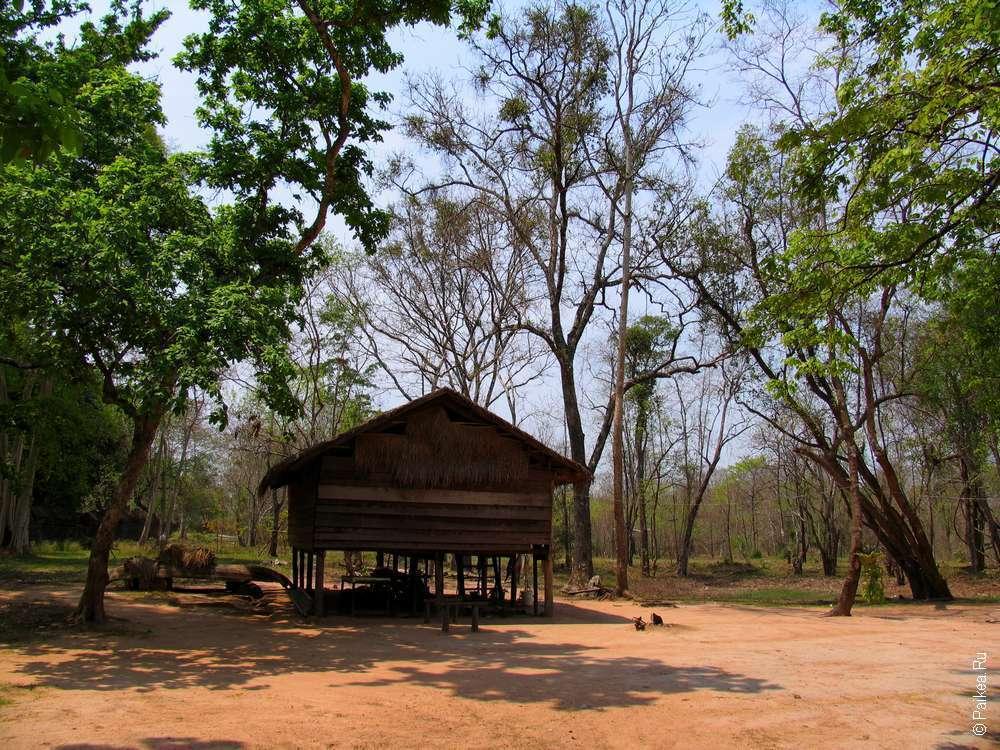 Скромное жилище современных камбоджийцев