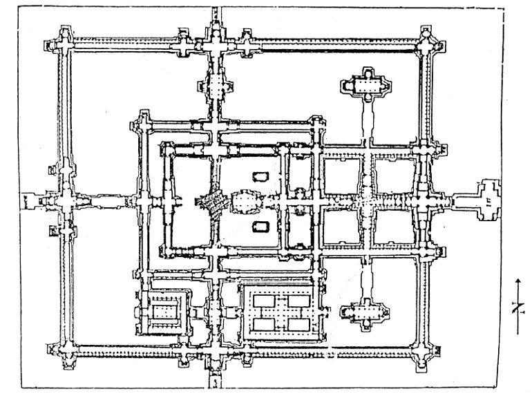 Схема храма Бенг Мелиа в Камбодже