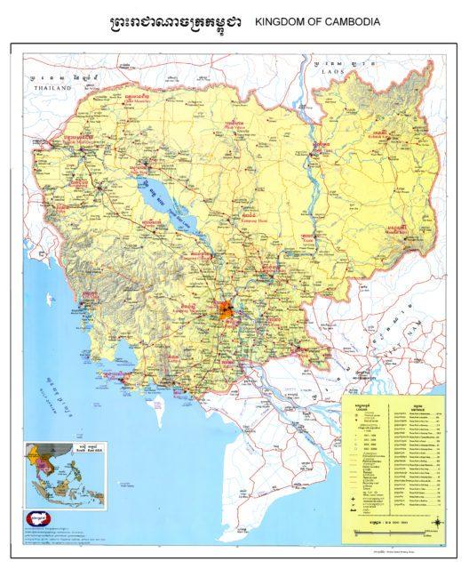 Карта Королевства Камбоджа