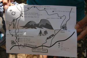 Карта трейла в парке Мэ Сурин