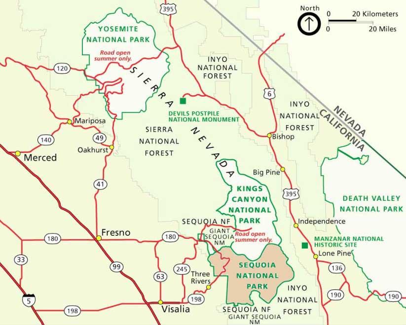 парк секвойя на карте