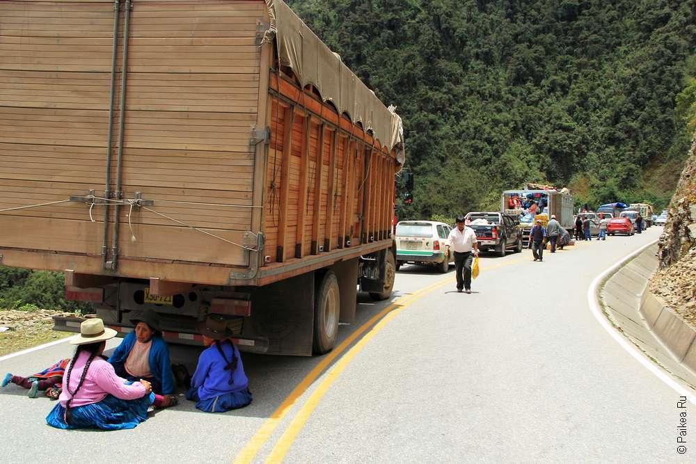 Обвал по дороге в Мачу-Пикчу
