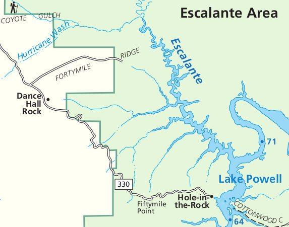 Схема района EscalanteEscalante