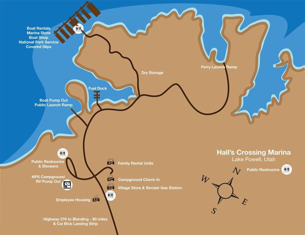 Halls Crossing map