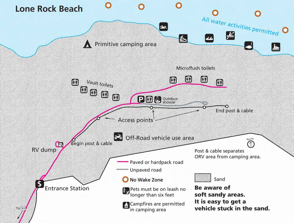 Схема района Пляж одинокой скалы