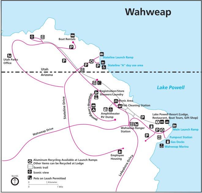 Схема района Уоуэп Глен-Каньон