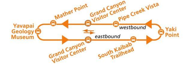 Парк Гранд-Каньон - Маршрут шаттла Kaibab Trail Route