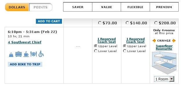 Стоимость билетов на поезд из Лос-Анджелеса в Гранд-Каньон