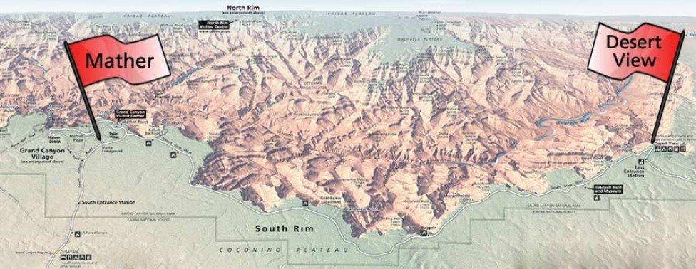 Гранд-Каньон, кемпинги на Южном риме